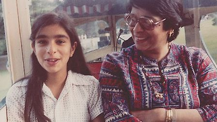 Shobna with her beloved mother
