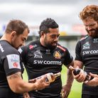 The Chiefs players look forward to trying the new Spiced Pineapple Rum. Photo: Rob Coombe