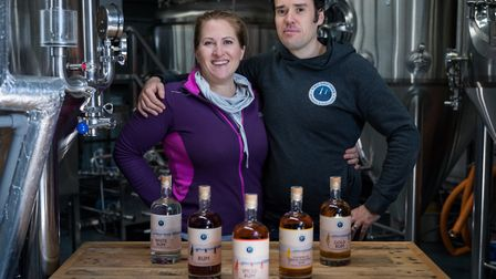 Russ and Gemma Wakeham are the founders of Two Drifters Rum. Photo: Matt Austin