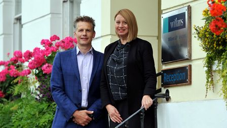 Jonathan Eager and Sharon Giles of Willans LLP. Picture: Willans LLP