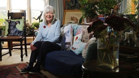 Jilly Cooper at her Bisley home