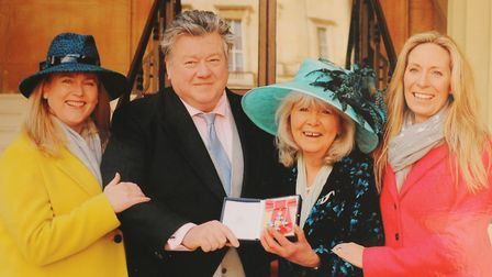Jilly Cooper getting her CBE in 2018