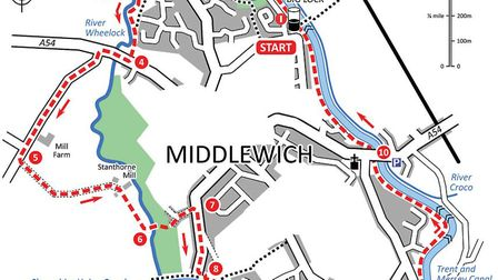 Middlewich walk map Images; David Dunford/Countryside books