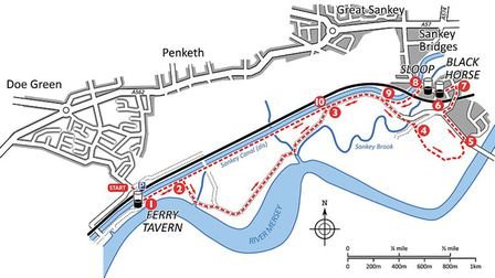Penketh walk map Images; David Dunford/Countryside books
