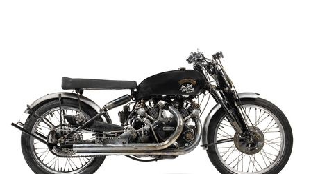 The 1951 Vincent Black Lightning that sold at Bonhams for a record £657,652