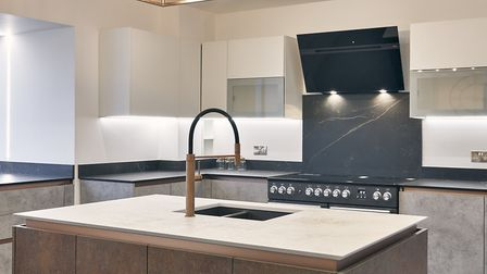 Dekton sintered stone is hard-wearing, heat and scratch-resistant making it a good choice for your k