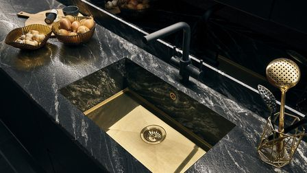 'Dramatic granites are the latest look for cutting edge kitchens.' Picture: stoneCIRCLE