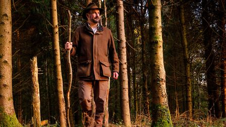 Natural Navigator Tristan Gooley in woods near his Eartham home. Photo: Jim Holden