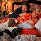 Laurence and Jackie Llewelyn-Bowen with their spaniels