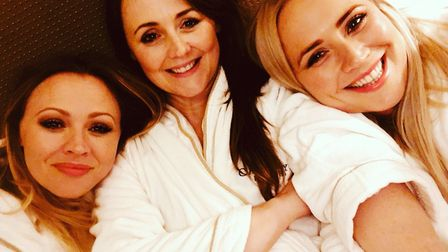 Sally describes her relationship with sisters Kimberley and Amy as 'extremely close and supportive'