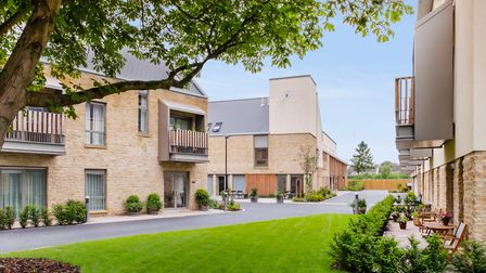 The one or two-bedroom homes are spread across six buildings, each connected by beautiful garden wal