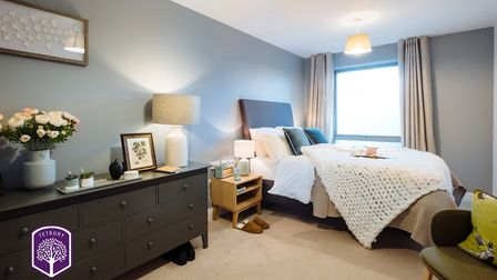 Each apartment is equipped with integrated appliances, a shower or bath, open-plan living spaces and