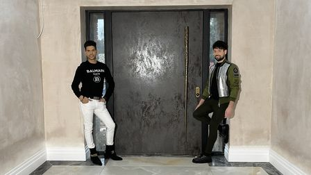 Kunal and Thomas designed in a bold front door to ensure a grand entrance