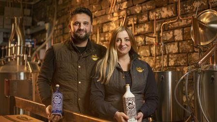 Forest Gin owners Karl and Lindsay in the gin distillery. Photo: Forest Gin