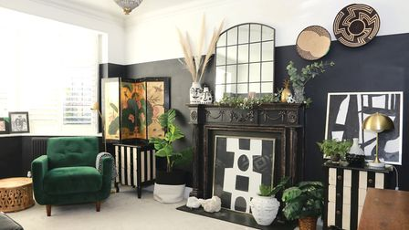 Lianne designed her sitting room first, then created it in minature in her dolls house