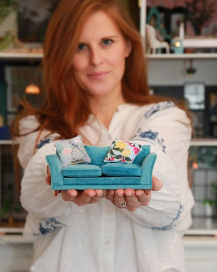 Lianne makes minature replicas of furniture from her own home for her dolls house, and has turned th