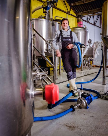Steve Keegan, head brewer and founder of Only With Love brewery near Lewes. Photo: Jim Holden
