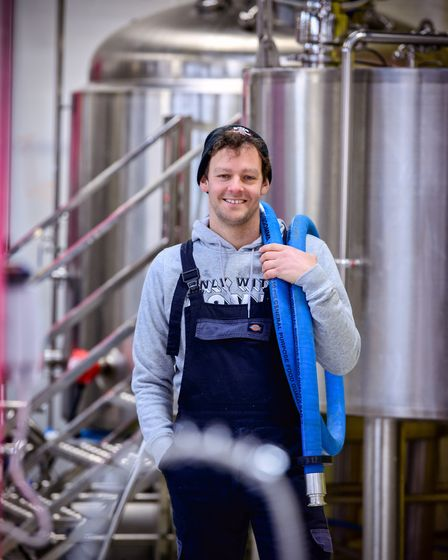 Steve Keegan, head brewer and founder of Only With Love brewery near Lewes.