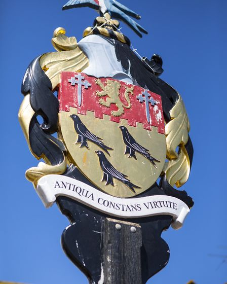The Coat of Arms of the town of Arundel in West Sussex