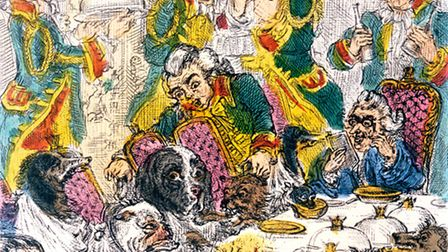 Footmen served Egerton's dogs at table with meals on silver platters, which the animals were expecte