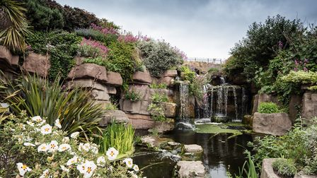 Madeira Walk rock gardens and cascade was built in 1892-3 under the supervision of Borough Engineer