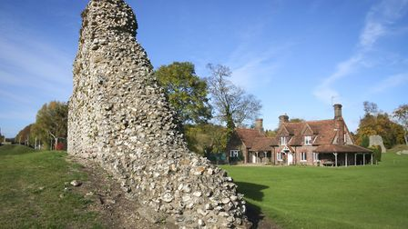 Berkhamsted Castle ruins. The site was besieged by French King Louis in his attempt to take the Engl