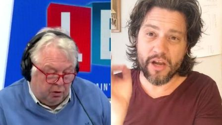 The LBC's Nick Ferrari (L) and Dr Mike Galsworthy