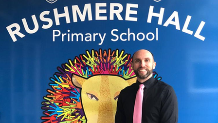 Paul Fykin, headtacher at Rushmere Hall Primary School
