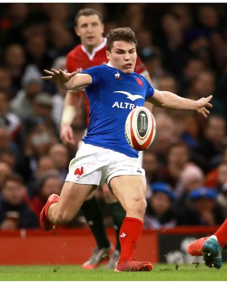 Antoine Dupont in action for France against Wales
