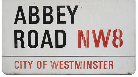 Abbey Road sign that is for sale in February 2020