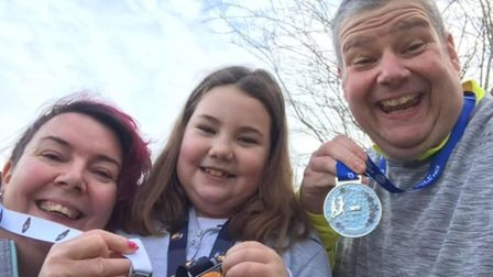 Three Counties family win medals