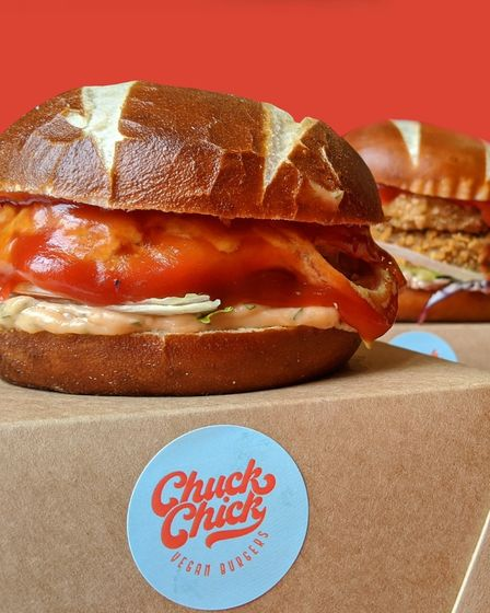 Vegan burgers on offer from Chuck Chick.