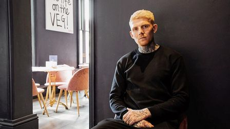 Erpingham House founder Loui Blake, who has now launched Chuck Chick vegan takeaway.