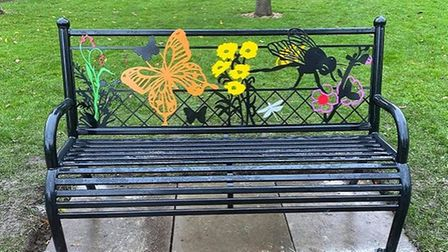One of the designs for the new bench which will be placed in the Riverside Park at St Neots.