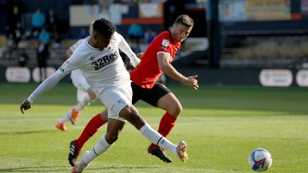 Jahmal Hector-Ingram in action for Derby County FC