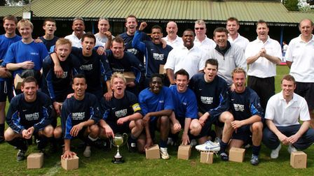Herts Ad Sunday League side London Road team celebrations in 2007