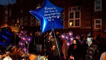Community vigil for Romario Opia on Holland Walk 01.02.21.