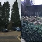 A before and after shot of the plot in Shepherd's Close