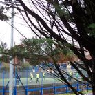 A group of men were seen playing football on Saturday and police let them off with a warning but they continued playing, and another group was spotted the following day.
