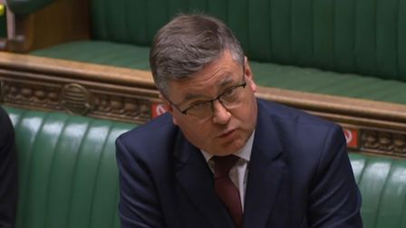 Justice Secretary Robert Buckland speaking in the House of Commons