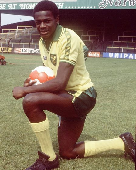 Former Norwich City striker Justin Fashanu who died in 1998