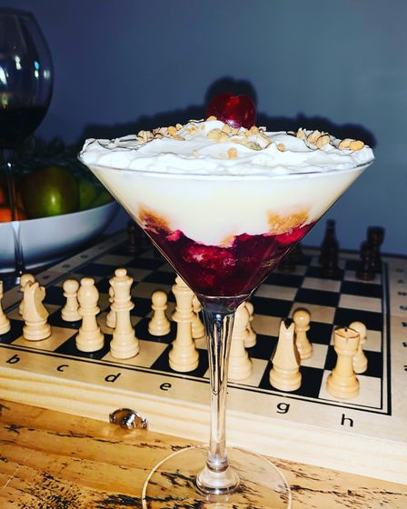 Also on offer is a trifle for dessert with whipped vanilla cream, fruit jelly, custard and sponge.