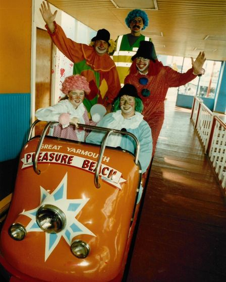 The Great Yarmouth Pleasure Beach rollercoaster. Date: August 1992.