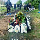 Rapper Terrell Davis, who went by the name TM1way, has finally been buried - over two months since he was stabbed to death...
