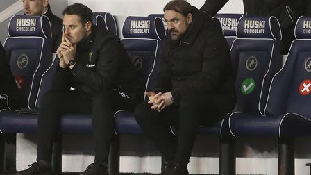 Norwich Head Coach Daniel Farke during the Sky Bet Championship match at The Den, LondonPicture by
