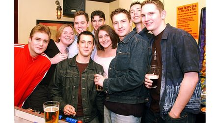 Customers at the Cock & Pye in Ipswich in December 2002