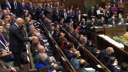 Former Chanchellor of the Exchequer Sajid Javid giving a personal statement to MPs in the House of C