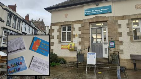 Ottery Library is handing out postcards of support