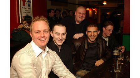 A night out at the Cock & Pye in Ipswich in December 2002