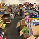 Newham Toy Appeal donations in the warehouse. Picture: Colin Grainger